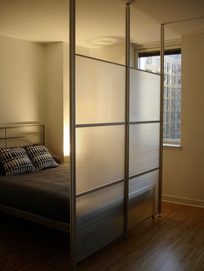 Dan Forlenza's Translucent Room Divider System, an entry into the Apartment Therapy 2009 Design Showcase, is made from an aluminum frame with polycarbonate panels.