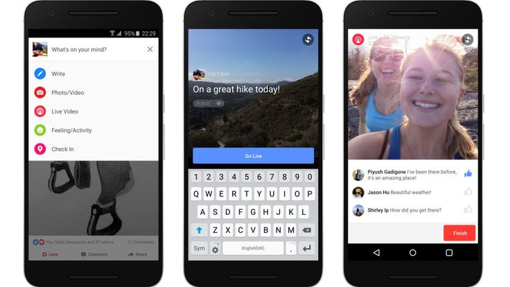 Facebook is bringing live video streaming to Android