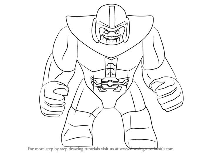 Lego Thanos Drawings Coloring Paint And Print Lego Thanos