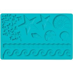 Brand: Wilton Model: W4092552 Dimensions: 11 inches x 5 inches package Materials: Silicone Description: One (1) mold in the Sea Life theme Fondant and gum paste sold separately Imported Color: Blue.