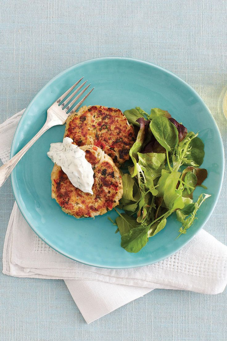 Cornbread Crab Cakes | We cut the the calories—but not the flavor—in your favorite dishes. That dish may taste delicious and look decadent, but imagine your surprise when you learn how healthy it is. These recipes take Southern classics and lighten them up without losing any of their flavors, using healthy substitutions to keep them tasting great. Light cornbread crumbs and reduced-fat mayonnaise mean you'll be keeping our Cornbread Crab Cakes on the menu.