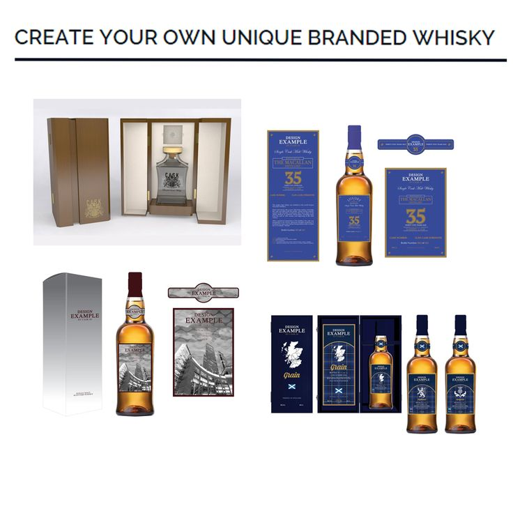 CREATE YOUR OWN UNIQUE BRANDED WHISKY Aged Whisky Bares A