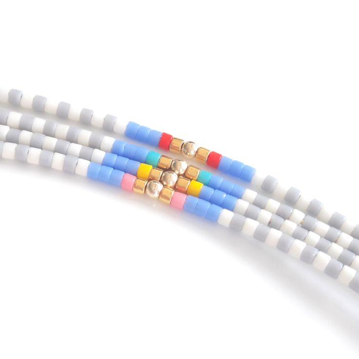 Friendship bracelets , summer bracelet, beaded bracelet , Miyuki delica bracelet make of tiny seed beads in beutiful colors