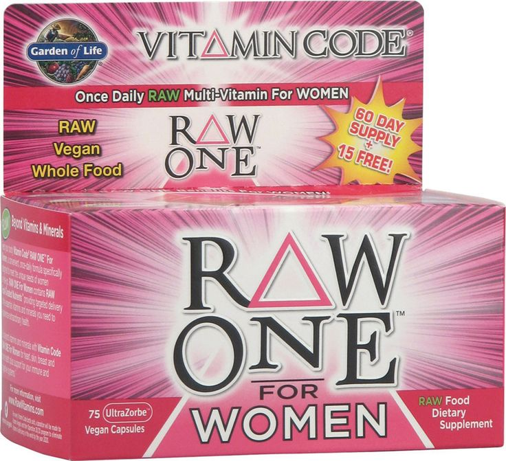 RAW, VEGAN, WHOLE FOOD AND THE BEST! Garden of Life Vitamin Code® RAW One™ for Women