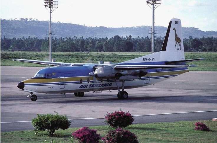 An Air Tanzania Fokker F-27-600RF Friendship at Moi International Airport