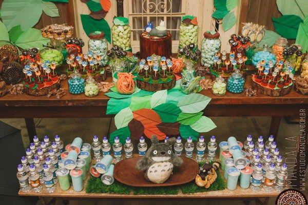 Festa Infantil Totoro, um tema lindo e inédito para festas. Totoro é protetor das florestas. Um personagem japonês cheio de significados.