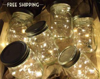 Venta 8 luces de luciérnaga y centros de por MasonKreationsEtsy