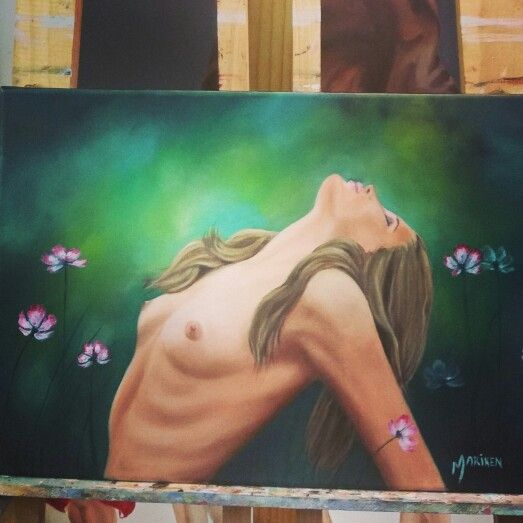 My art. Total abandonment. Oil painting. Nude.