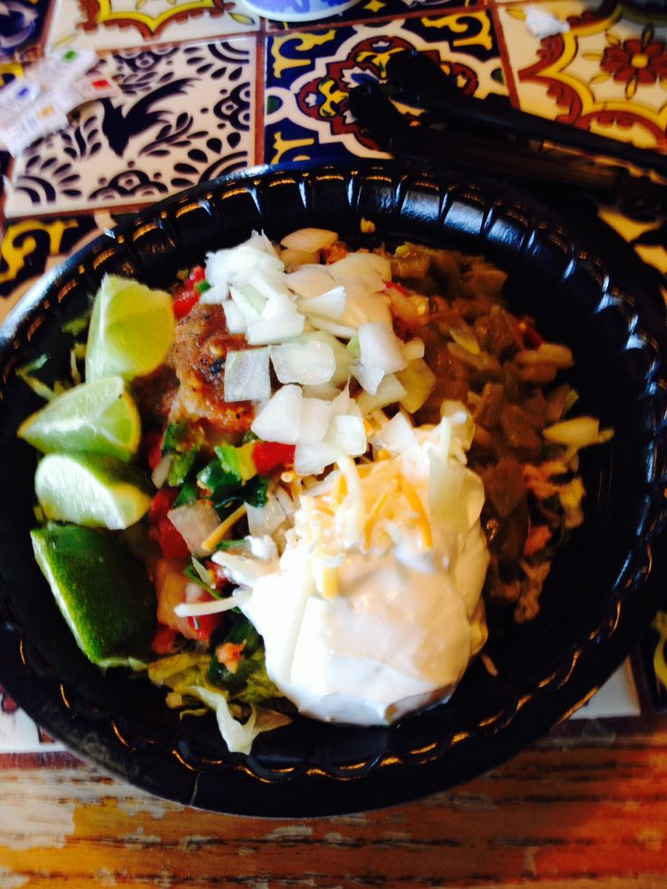 Taco Cabana Low Carb Chicken Taco Bowl No Shell No Beans Or Rice Add Green Chile Cheese