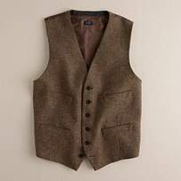 No need for a suit - Brown vest for groom and groomsmen - J crew