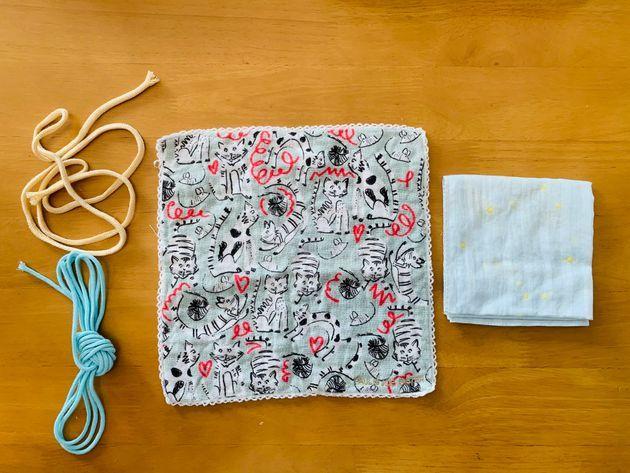 作り方 手縫い ハンカチ マスク の