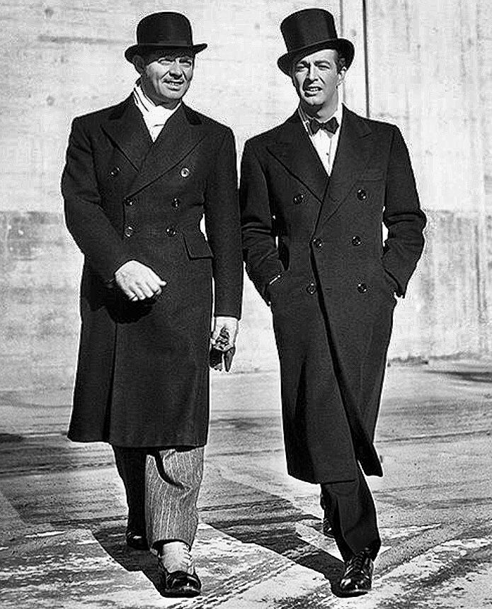 Clark Gable Robert Taylor 1939 Love That Style For Men So Much Vintage Hollywood Men Classic Movie Stars Classic Hollywood