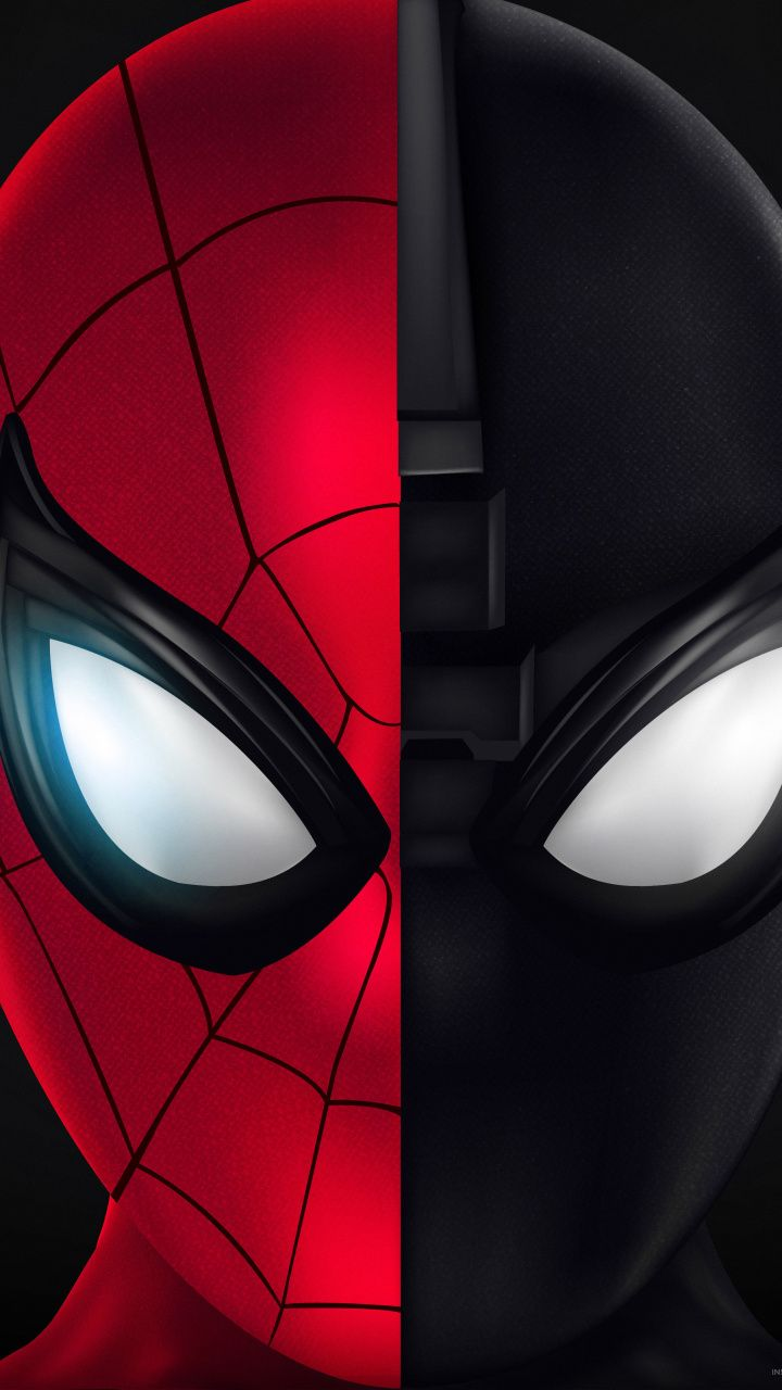 720x1280 Spider Man Far From Home Face Off Art