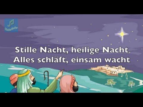 Weihnachtslieder deutsch zum Mitsingen. Stille Nacht, heilige Nacht. Wir wünschen frohe Weihnachten.  MIXMIDIPLAY