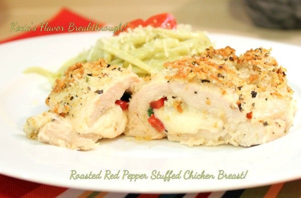 Roasted Red Pepper Stuffed Chicken Breasts!