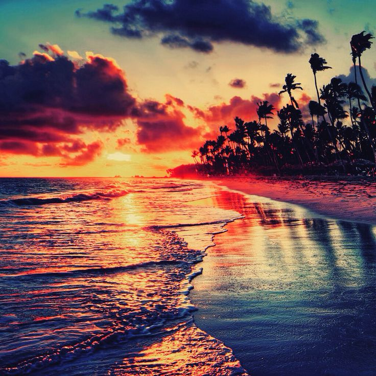Beautiful sunset wallpaper for iPhone and iPad Beach