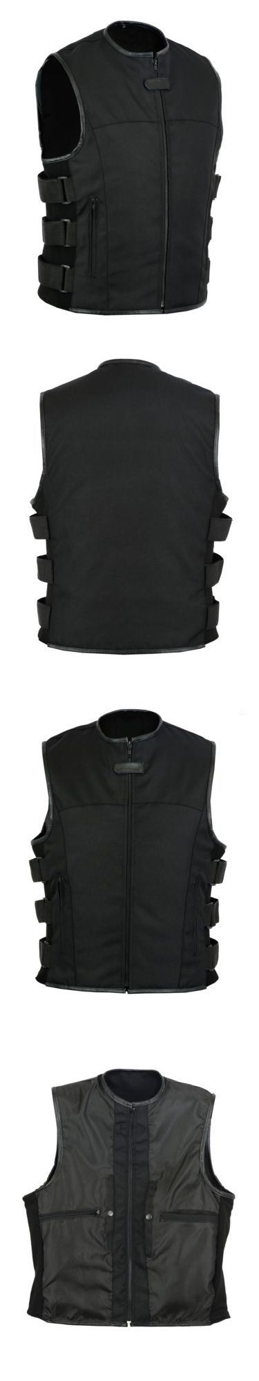 Vests 15691: Men S Motorcycle Biker Black Textile Tactical Swat Vest W Concealed Pockets -> BUY IT NOW ONLY: $42.99 on eBay!