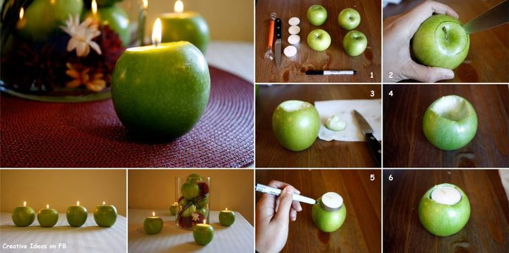 DIY Apple Candles :http://jefouinetufouines.fr/2013/05/09/diy-apple-candles/