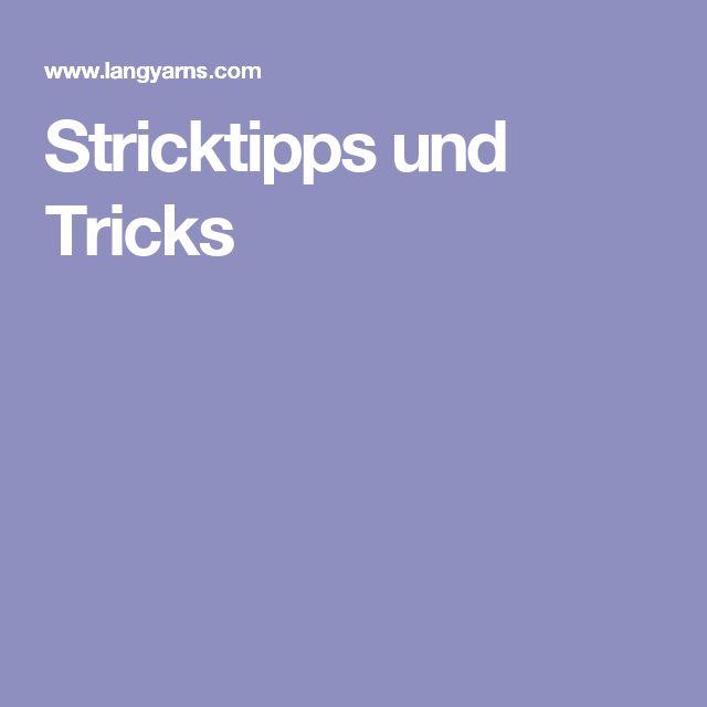 Stricktipps und Tricks