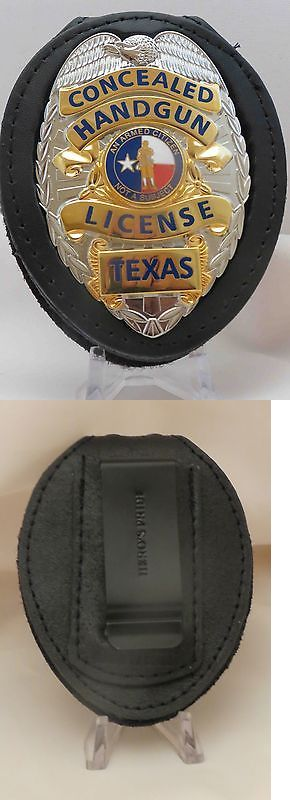 Other Hunting Holsters and Belts 22701: Concealed Handgun License Badge And Belt Clip Texas Silver Color -> BUY IT NOW ONLY: $40 on eBay!