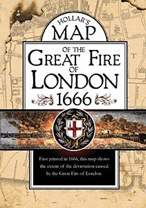 Hollar's Map of the Great Fire of London 1666