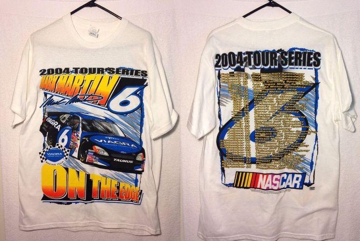 2004 MARK MARTIN 6 Viagra Roush Racing NASCAR T shirt Men's Large Ford Taurus #DeltaProWeight #RoushRacing