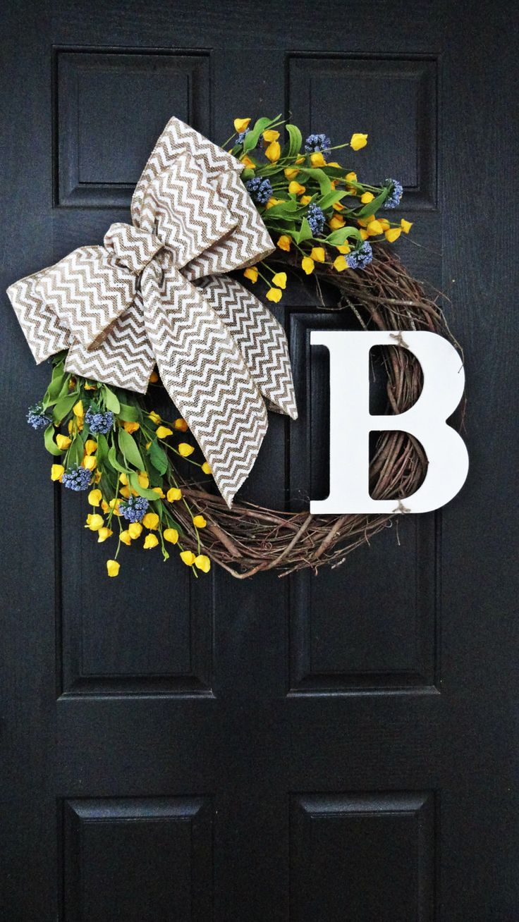 Purple+and+Yellow+Wildflower+Wreath+for+by+AnnabelleEveDesigns