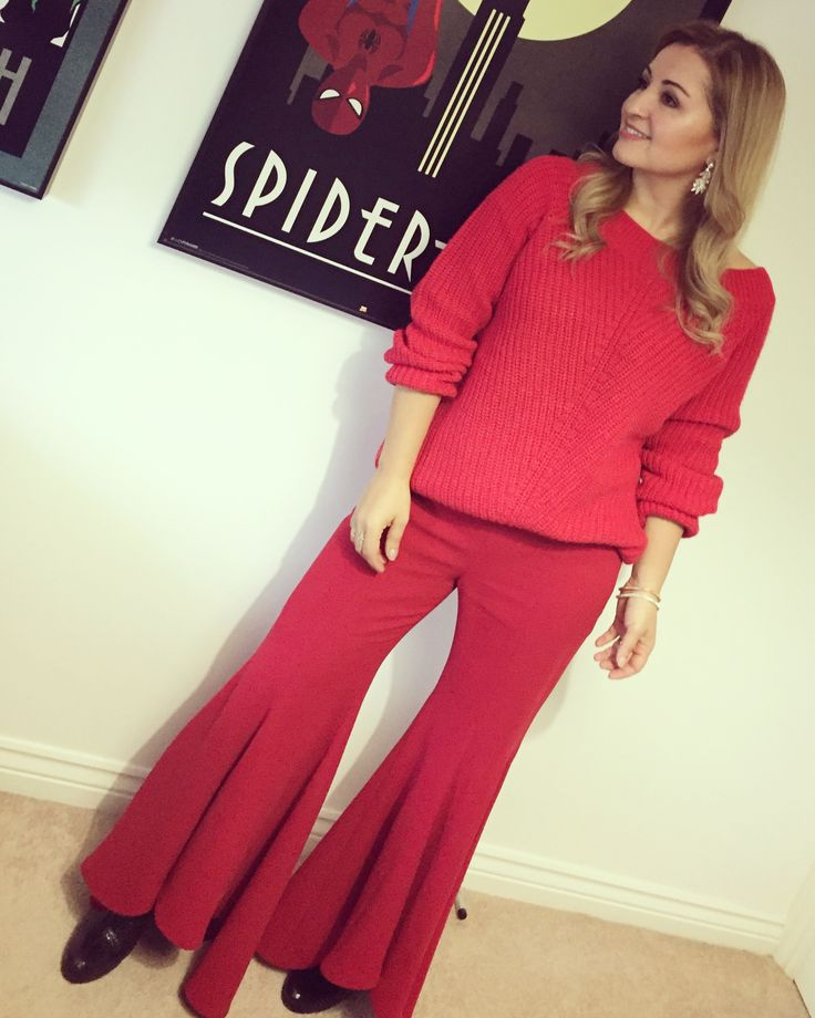 All red outfit! Fashion