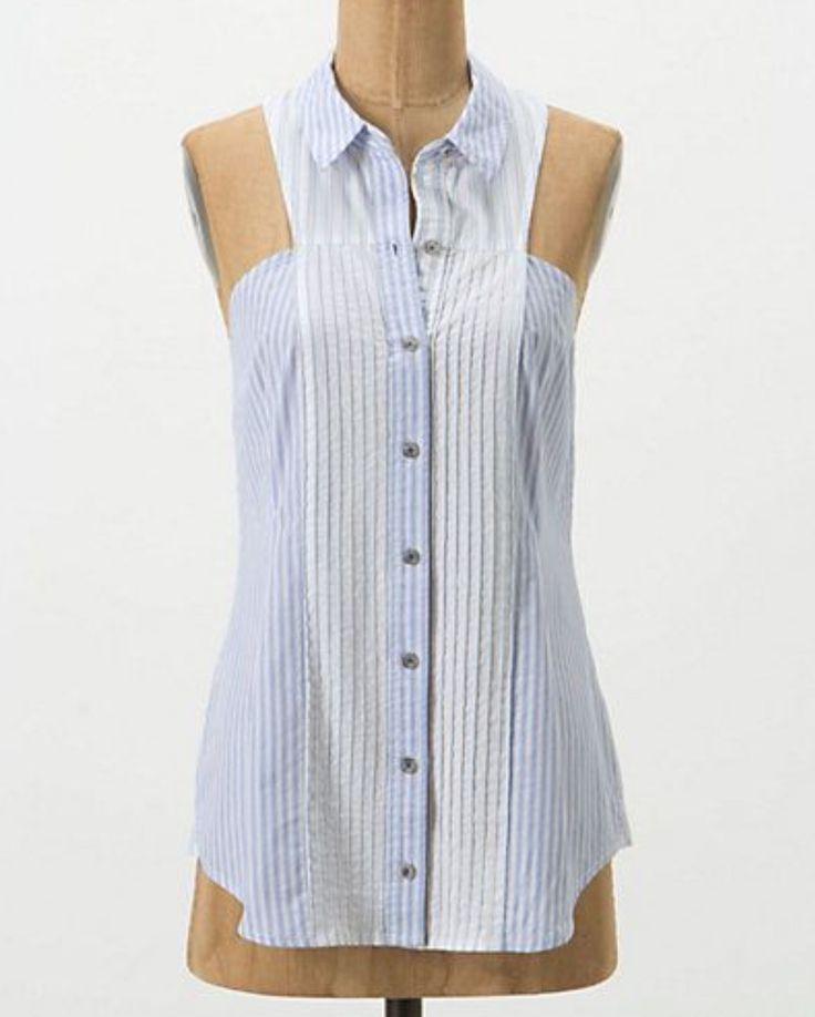 Переделка мужской рубашки-16