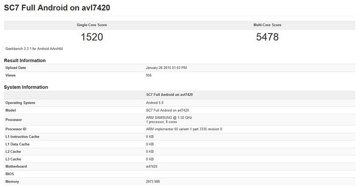 Samsung's Exynos 7420 Gets Benchmarked and Compared to Snapdragon 810