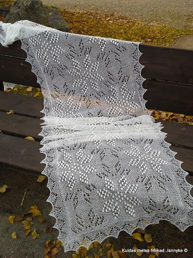 Hand knitted Haapsalu shawl Eightpointed Star by AnnysLacyBoutique