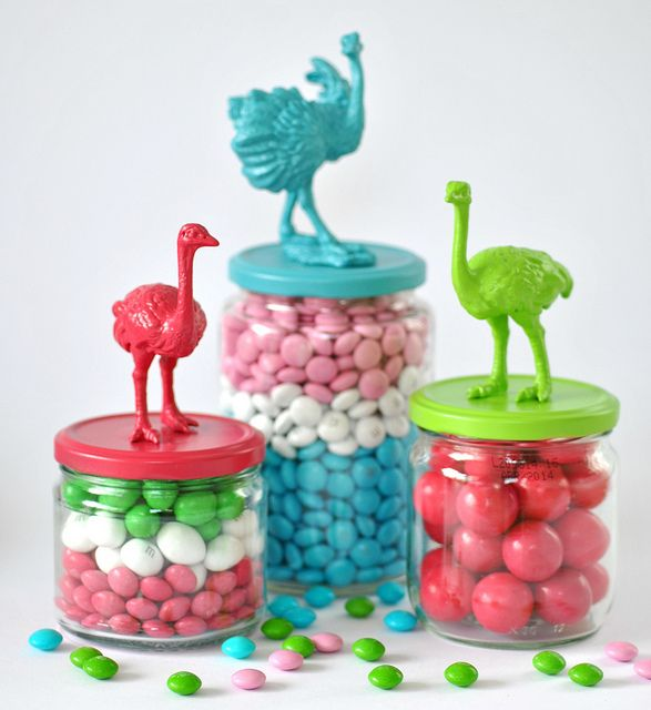 bird candy jars by toriejayne, via Flickr
