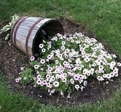 Spilling Flower Pot...  THis is going in the front yard