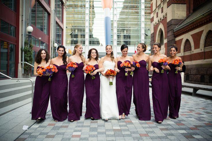 gorgeous fall wedding at Pafa in eggplant & orange