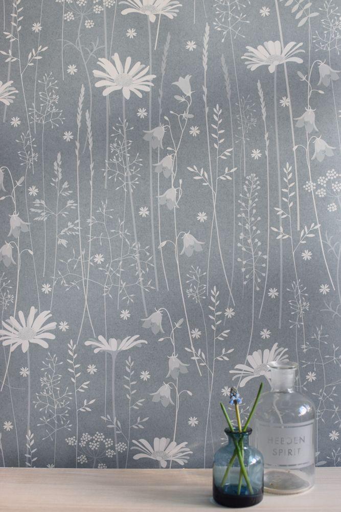 Hannah Nunn: Daisy Meadow in moonrise #blue #duskyblue #meadow