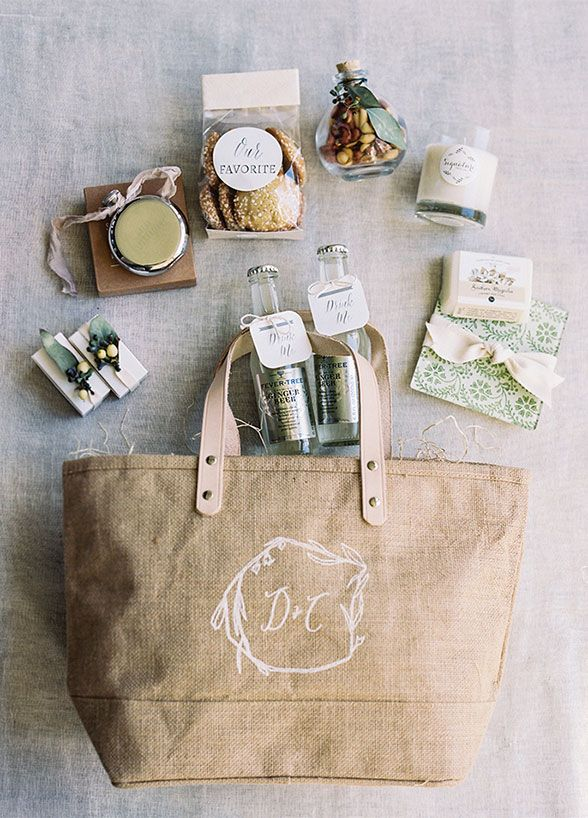 Wedding Gifts For Guests Destination Weddings : ... Rustic Ideas Plum Pretty Sugar Linen bag, Wedding and Welcome bags