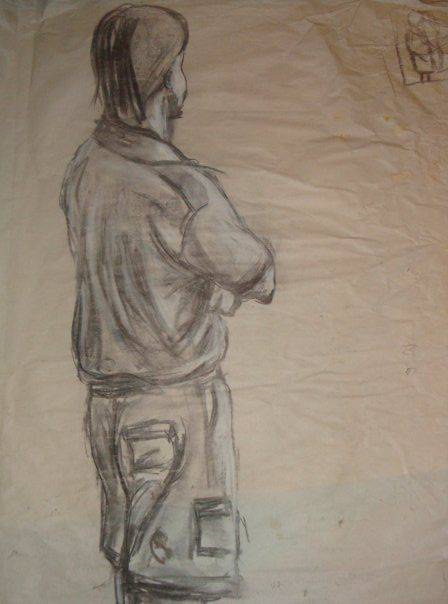 Pencil scetch, life drawing class