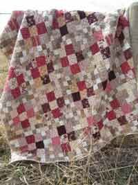 Saskatoon Pie Quilt Pattern. This quilt is an ode to saskatoons and grandma's pie. Pair tart  pinks with a wide variety of buttery neutrals to achieve the same look. http://www.kayewood.com/Saskatoon-Pie-Quilt-Pattern-PQM-SAPE.htm $12.00