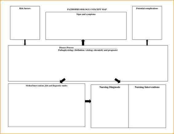 Free Nursing Concept Map Template.12 Nursing Concept Map Template Academic Resume Template Regarding