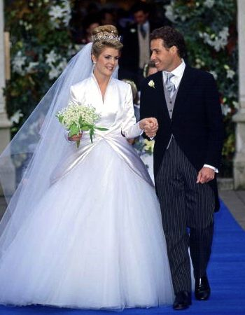 royalhatsblog:  Happy 20th Anniversary to the Linleys, October 8, 2013-David, Viscount Linley, only son of Princess Margaret and the Earl of Snowdon, married Serena Stanhope on October 8, 1993; the couple have two children-Charles, b. July 1, 1999, and Margarita, b. May 14, 2002.