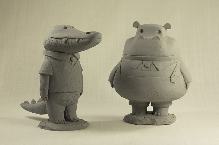 ca-tsuka: Sculptures by Andrea Blasich for production of The Dam Keeper animated short-film directed by Dice Tsutsumi and Robert Kondo.