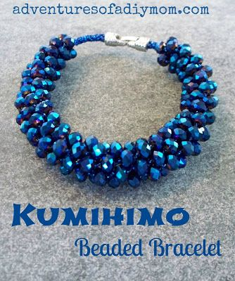 Embroidery Thread and Seed Bead Kumihimo Bracelets and a Giveaway.