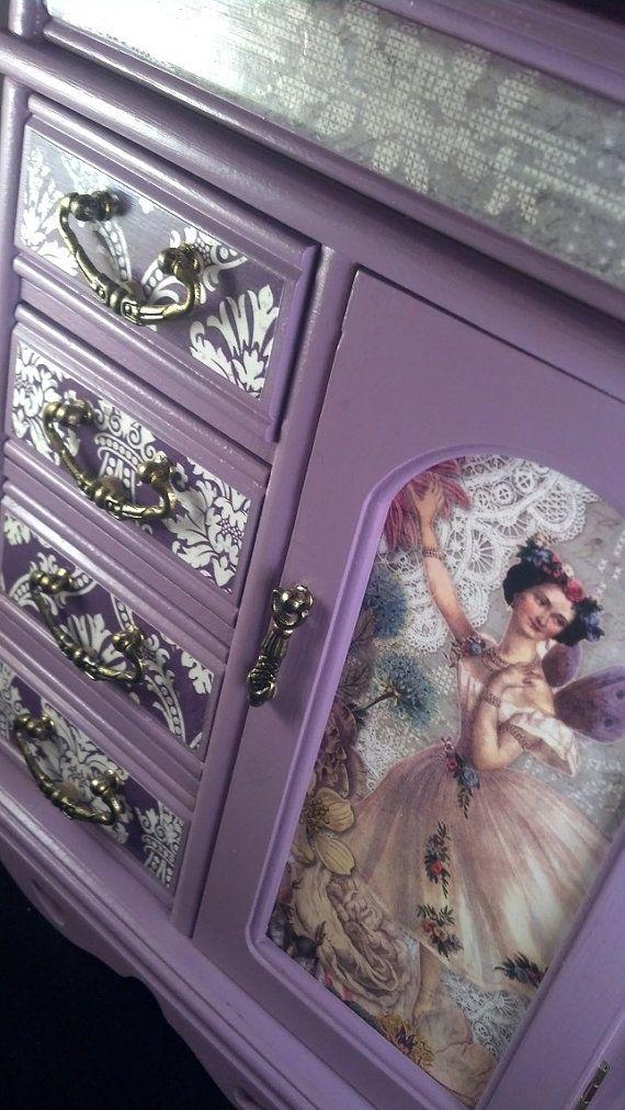 Purple Fairy Ballerina Upcycled Jewelry Box by CrystalsBoxShoppe, $55.00