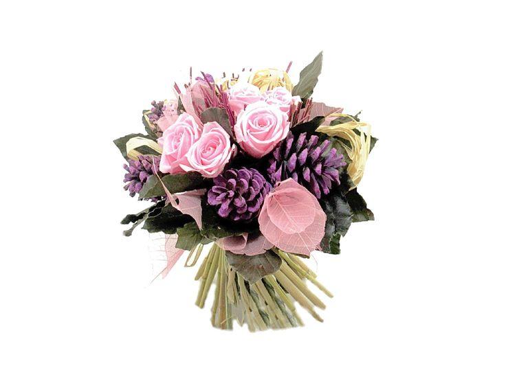 Bouquet de roses naturelles stabilisées. http://themarose.com/home/3-bouquet-de-roses-mini.html