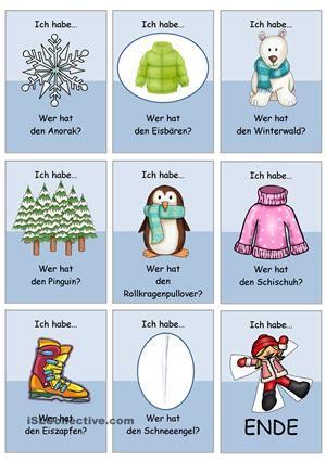 Lesespiel_Winterwörter 1 _einfach (3/3) ähnliche tolle Projekte und Ideen wie im Bild vorgestellt findest du auch in unserem Magazin