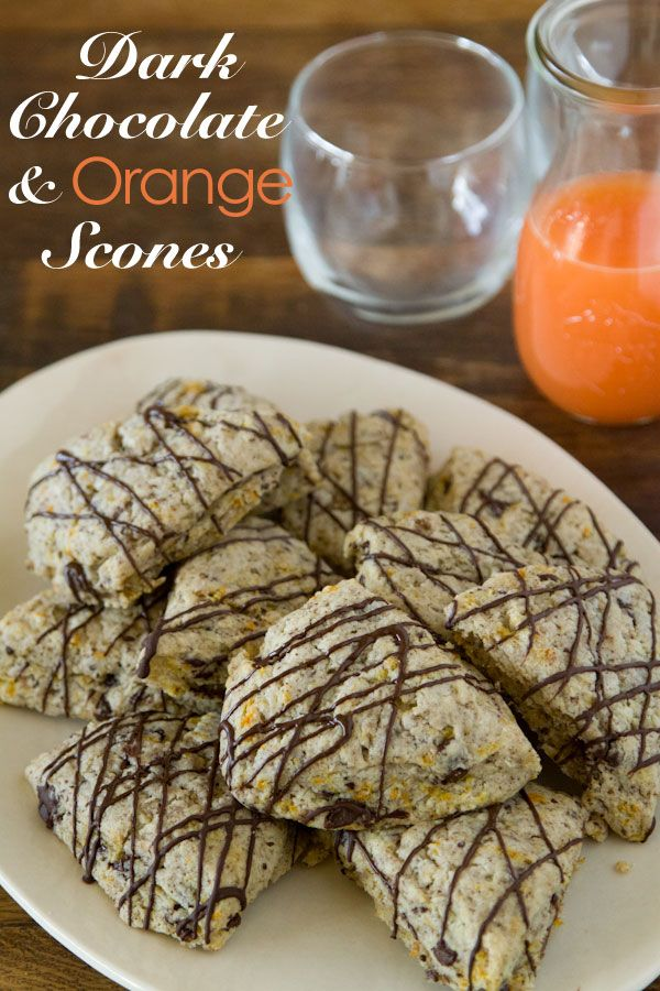 Dark Chocolate and Orange Scones from www.whatsgabycooking.com