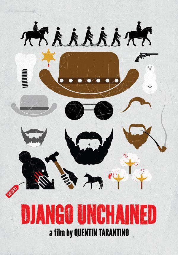 Django Unchained (2012) ~ Minimal Movie Posters by Viktor Hertz