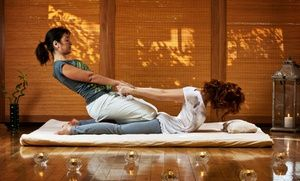 Groupon - 60-Minute or 90-Minute Thai Massage at One Aum (Up to 53% Off) in Potomac. Groupon deal price: $59