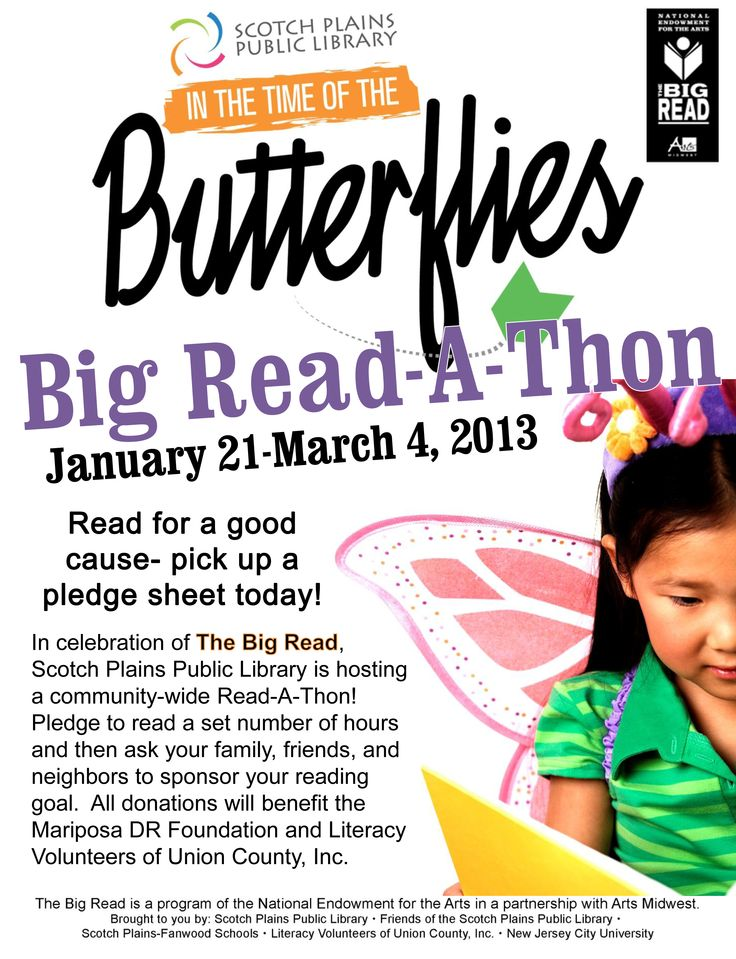 26 best in the time of the butterflies images on pinterest read a thon promotional poster courtesy of scotch plains public library design sciox Images