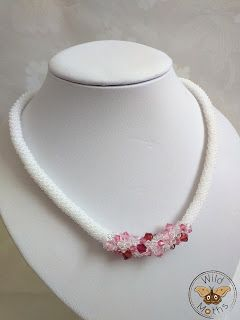 Wildmoths Handcrafted Creations: More Crochet Necklaces with Swarovski Crystals